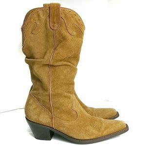Cathy Jean Shoes - Kathy Jean Genuine Leather Cowboy Boots Size 9